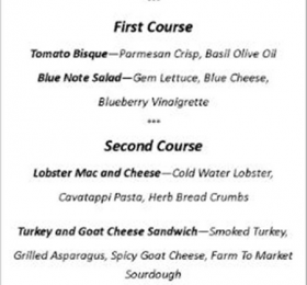 providence lunch menu