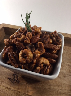 Candied Chipotle and Rosemary Mixed Nuts