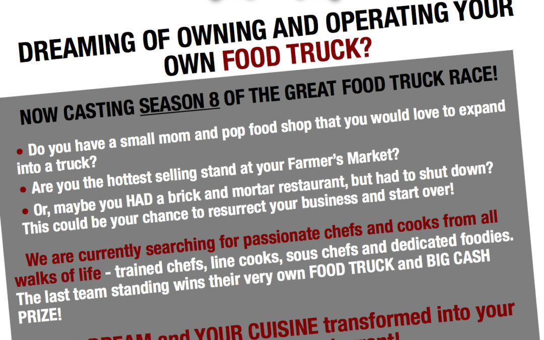 Casting Details for the Great Food Truck Race