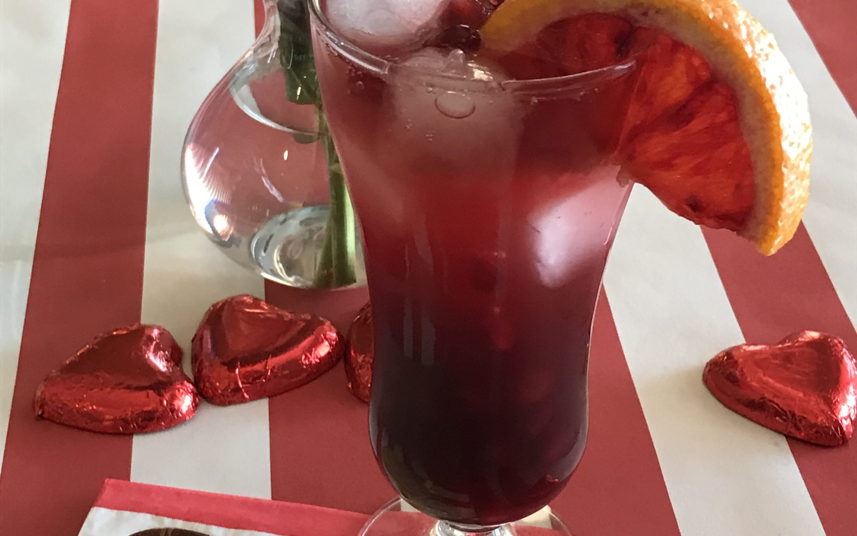 Cranberry and Blood Orange Cocktail with Pomegranate Tequila