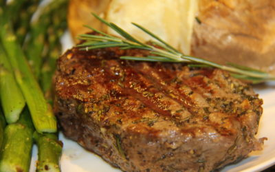 Rosemary and Garlic Crusted Filet Mignon