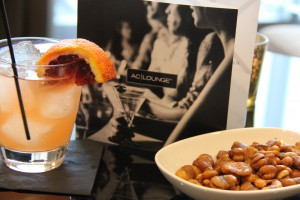 AC Signature Cocktail and Roasted Fava Beans