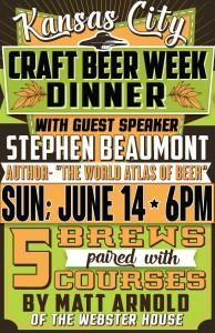Craft Beer week dinner with Stephen Beaumont