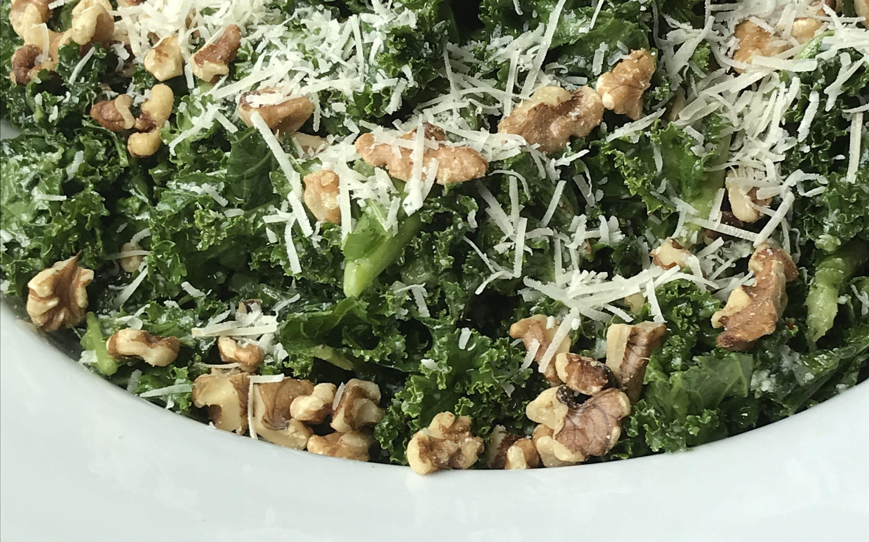 Kale Salad with Parmesan Dressing