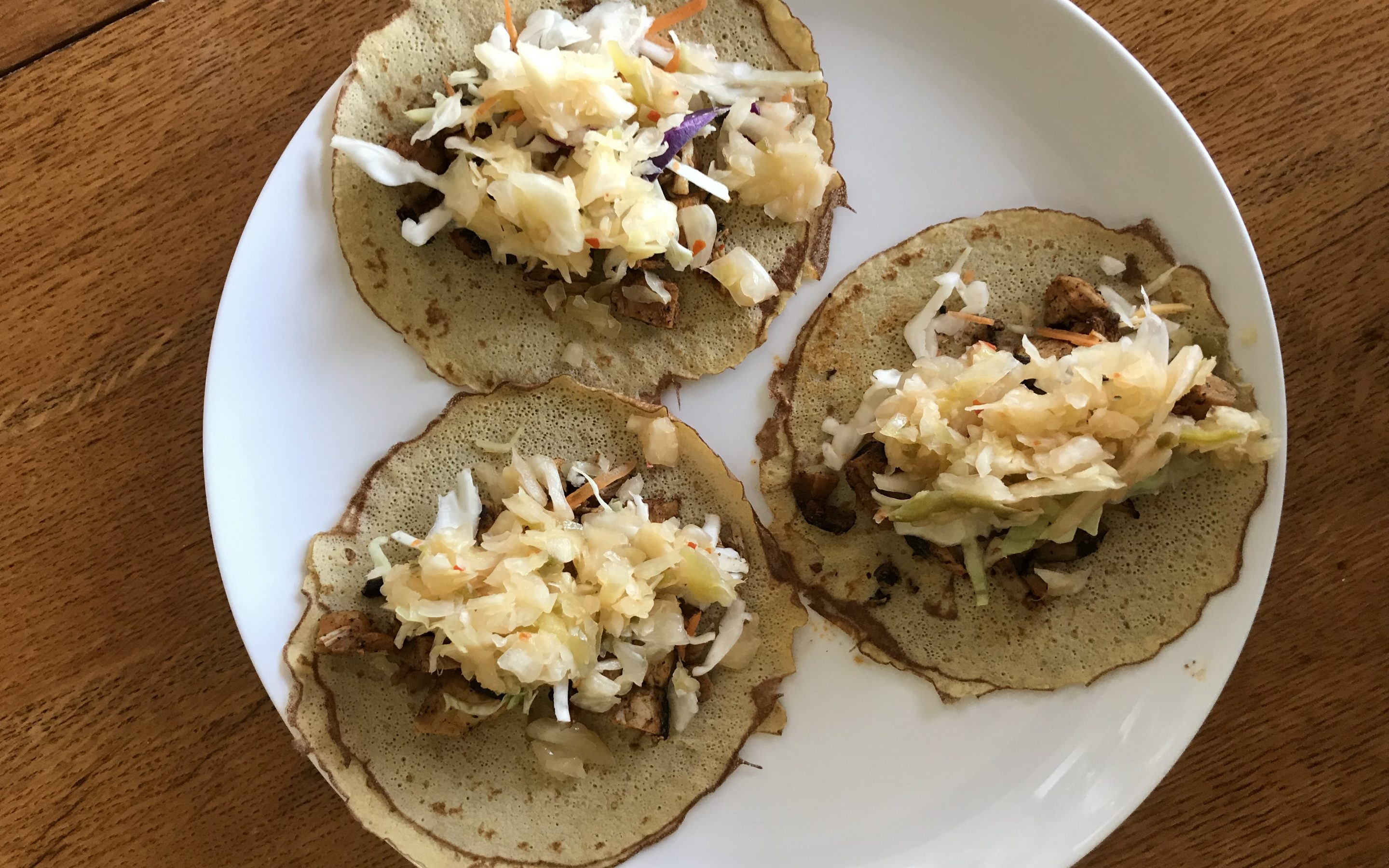 Lazy Chicken Street Tacos featuring Cleveland Kraut