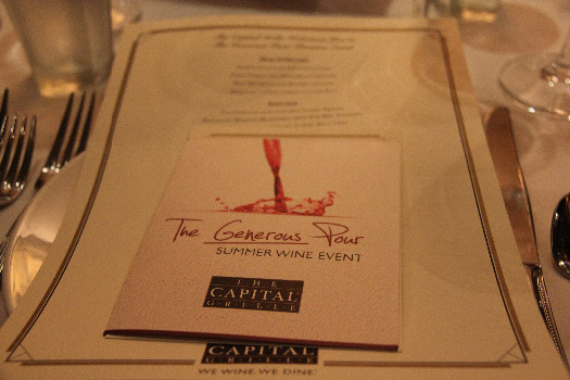 The Generous Pour at The Capital Grille