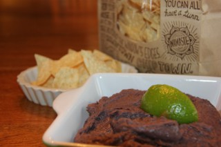 Black Bean Dip with leftover Chipotle beans