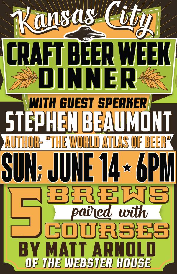 Kansas City Craft Beer Week Dinner with Stephen Beaumont