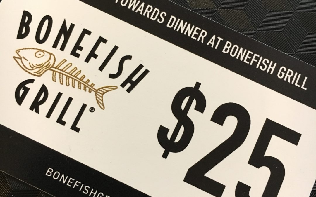 New Winter Menu and $25 to try it at Bonefish Grill
