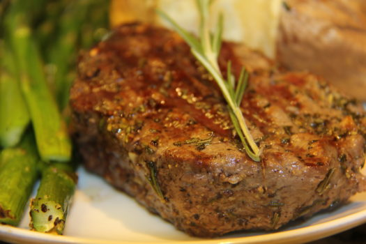 Rosemary and Garlic Crusted Filet